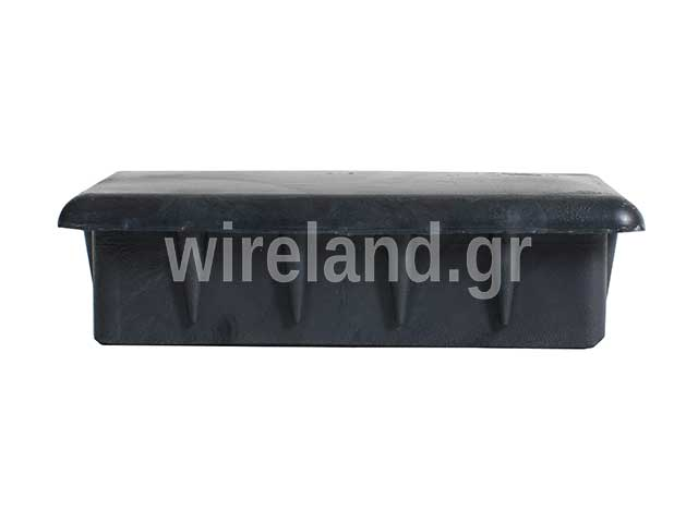 Plastic cap for rectangular hollow beams.
