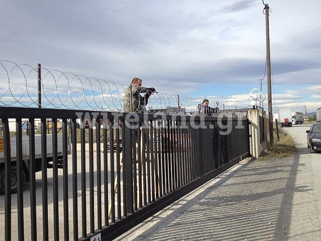 clôtures avec le fil concertina plat