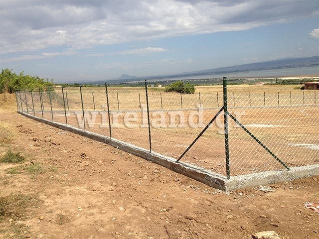 Fences with steel angles